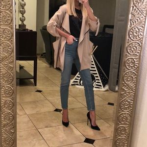 Blush/ nude light weight jacket